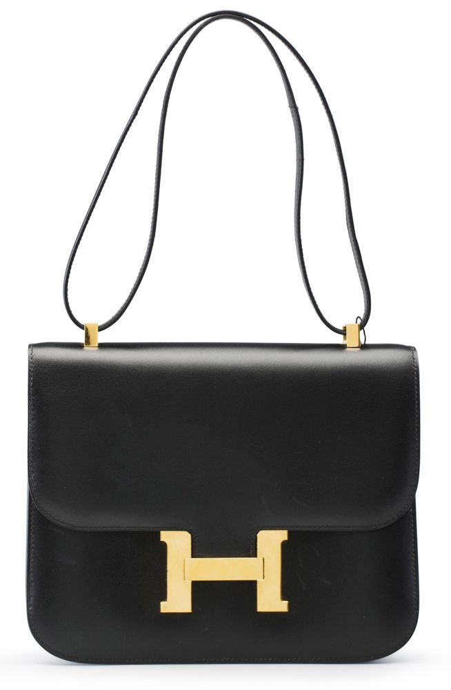 Hermes Black Calfbox Constance Bag 25cm