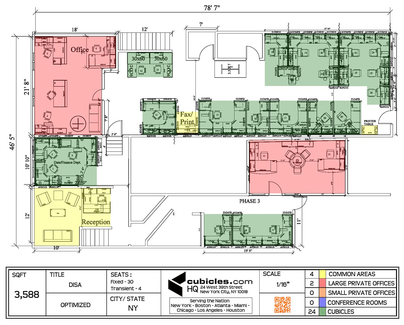 Office Floor Plan In 3 588 Square Footage Office