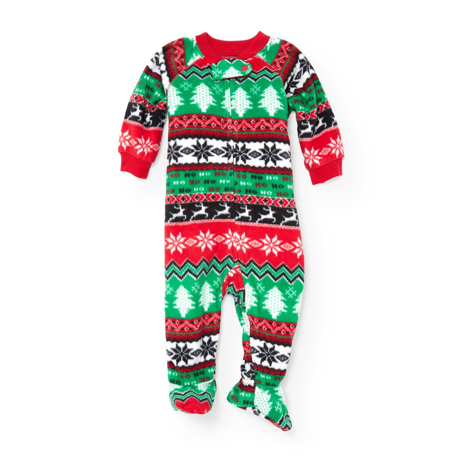 55a6c62b37 The Children s Place Baby Christmas Long Sleeve One-Piece Pajamas ...