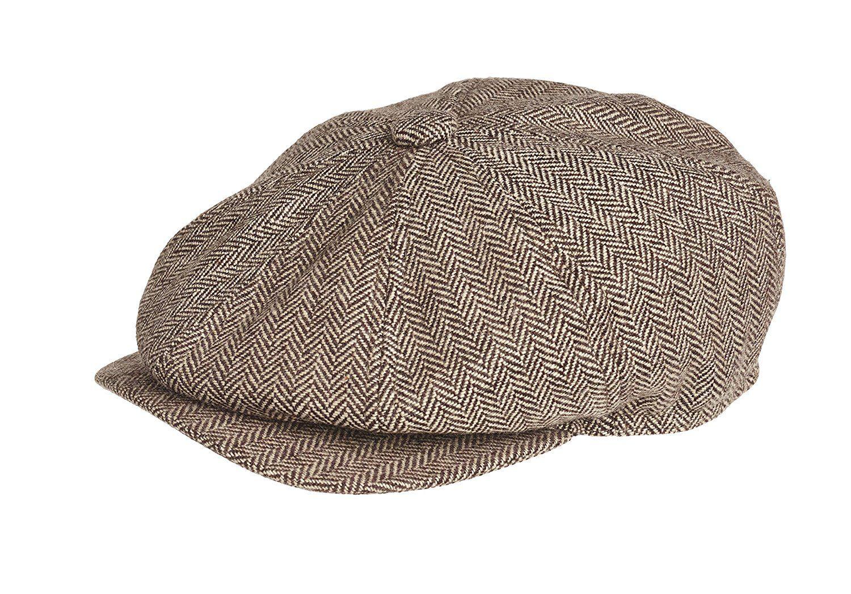 Peaky Blinders 8 Piece  Newsboy  Style Flat Cap -100% Wool  Amazon.co.uk   Clothing 9dca61cfe01