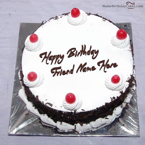 Write name on Black Forest Birthday Cake Happy Birthday Wishes