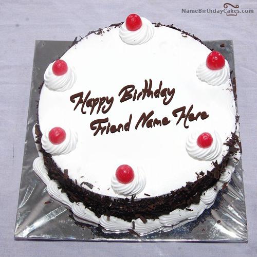 Birthday Cake Image Vishal : Write name on Black Forest Birthday Cake - Happy Birthday ...