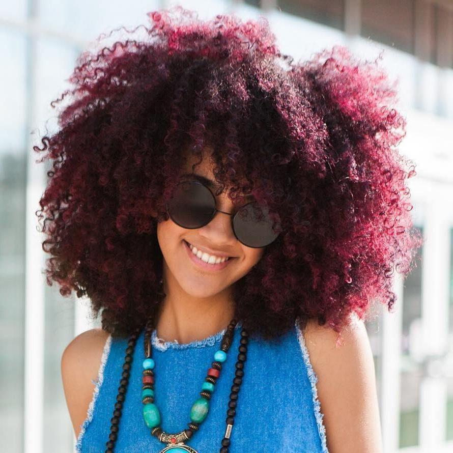 45 Shades Of Burgundy Hair Dark Burgundy Maroon Burgundy With Red Purple And Brown Highlights Natural Hair Styles Burgundy Hair Burgundy Curly Hair