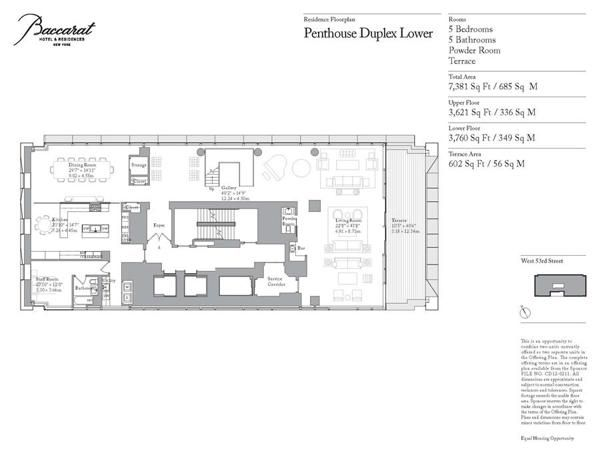 Baccarat Hotel Residences 20 West 53rd Street Midtown New York Curbed Ny Penthouse Nyc Penthouse Floor Plans