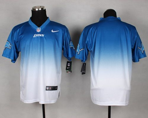 pretty nice 31c41 e1588 Nike Detroit Lions Blank Light Blue/White Fadeaway Elite ...