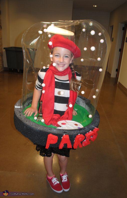 paris snow globe diy halloween costume idea