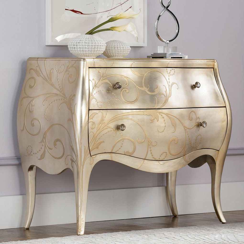 Found It At Wayfair   Jessica Mcclintock Accent Silver Leaf Chest