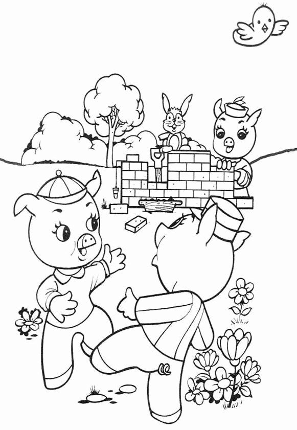 Three Little Pigs Coloring Page Luxury Pig Coloring Pages ...