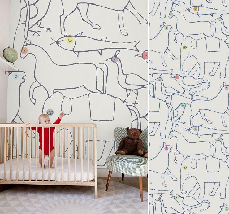 papier peint animaux minakani | Nenés | Pinterest | Papier peint ...