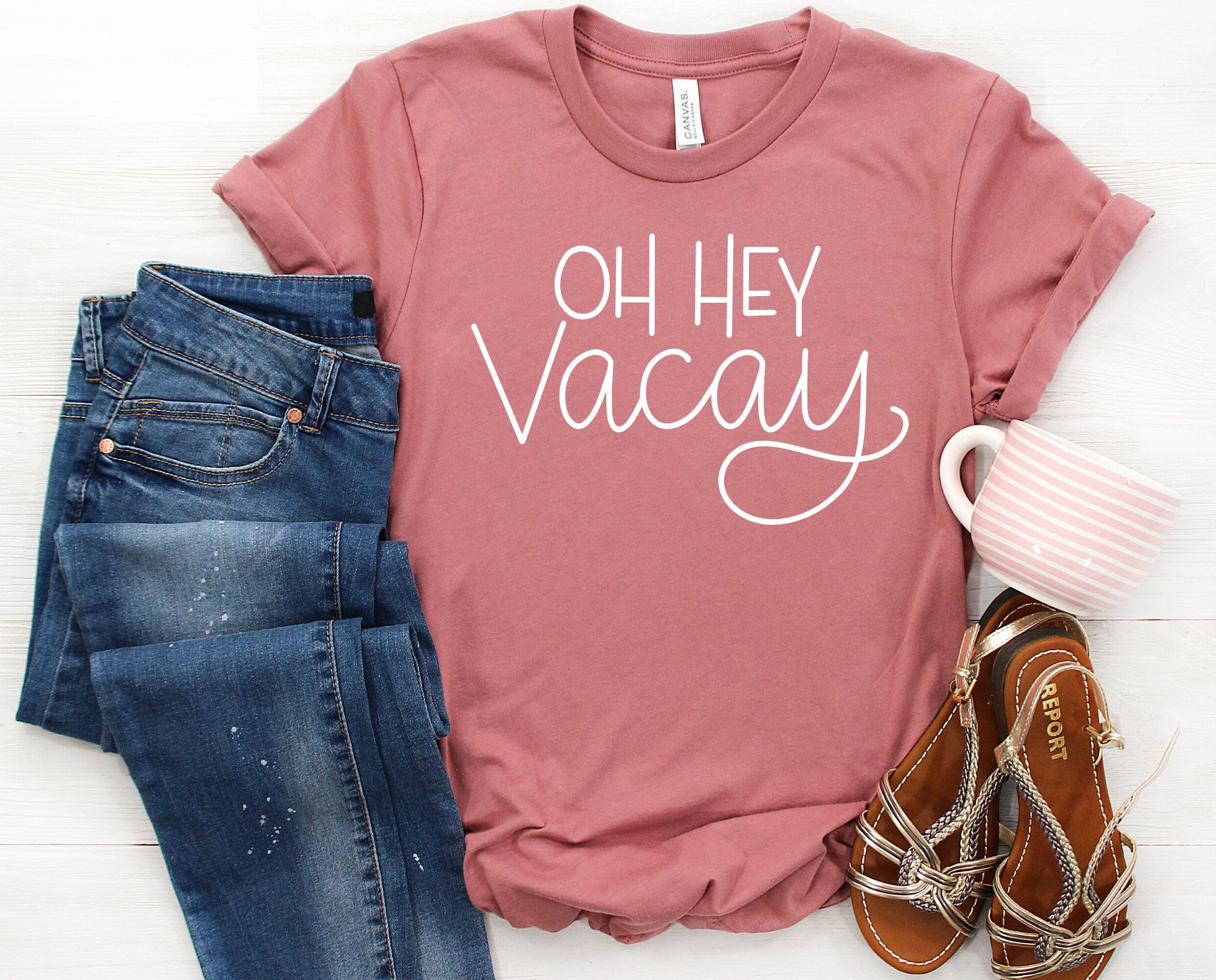 Oh Hey Vacay Shirt, Vacation Shirt, Girls Trip Shirt, Vacay Tee, Travel Shirt, Girls Weekend Shirt, Cruise Shirts, Group Shirt, Gift for Her
