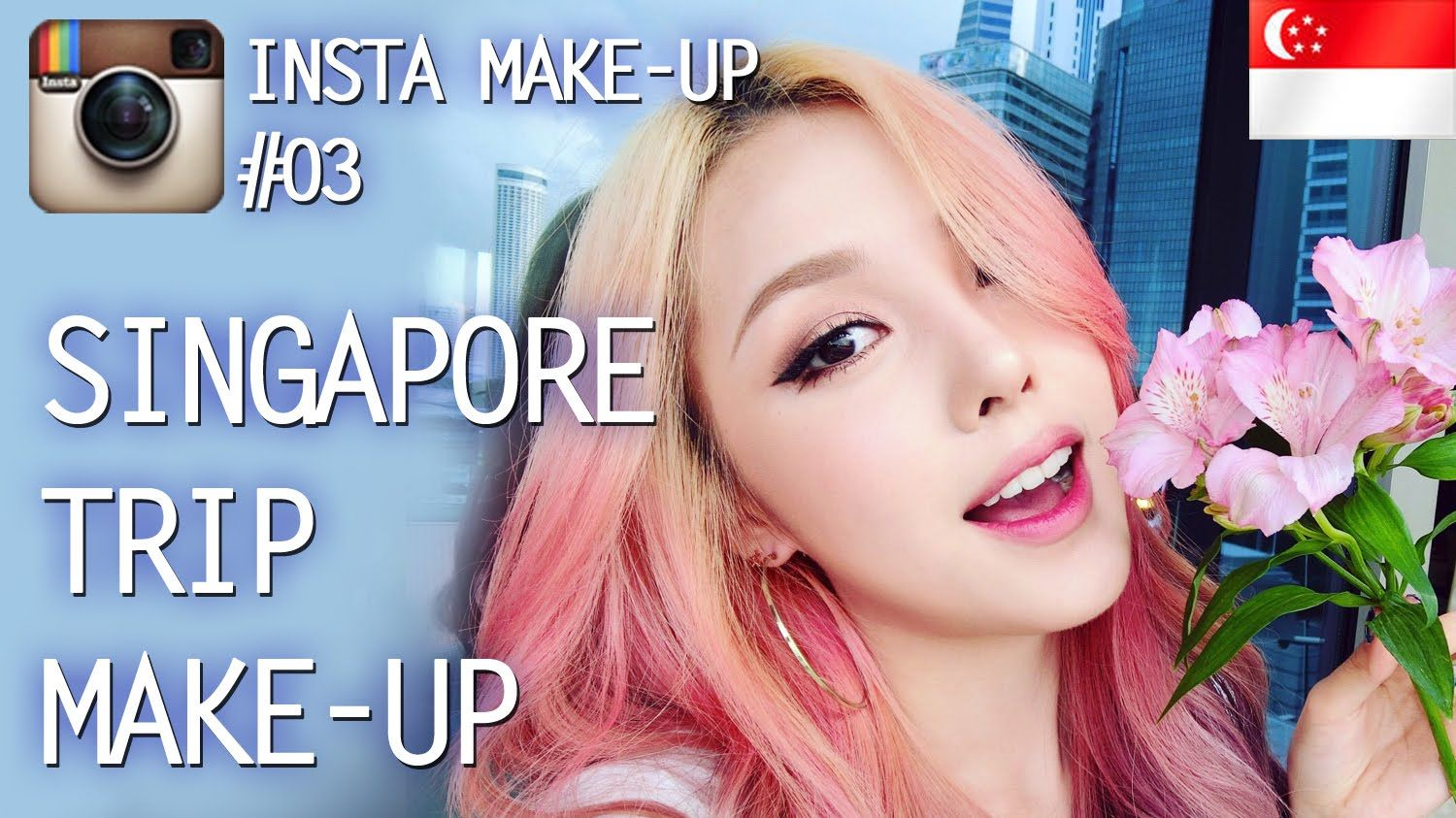 Instagram Make up (With subs) Singapore Trip Makeup