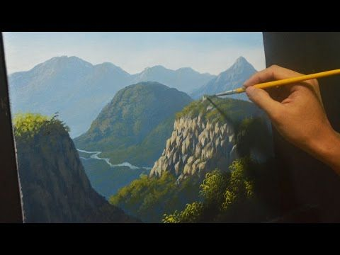 Learn How To Paint Mountains Acrylic Painting Lesson By Jm Lisondra Youtube Landscape Paintings Acrylic Mountain Paintings Painting Lessons