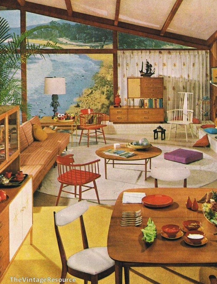 1959 suncoast by drexel 1950s interiorvintage interior designvintage - 1959 Home Design