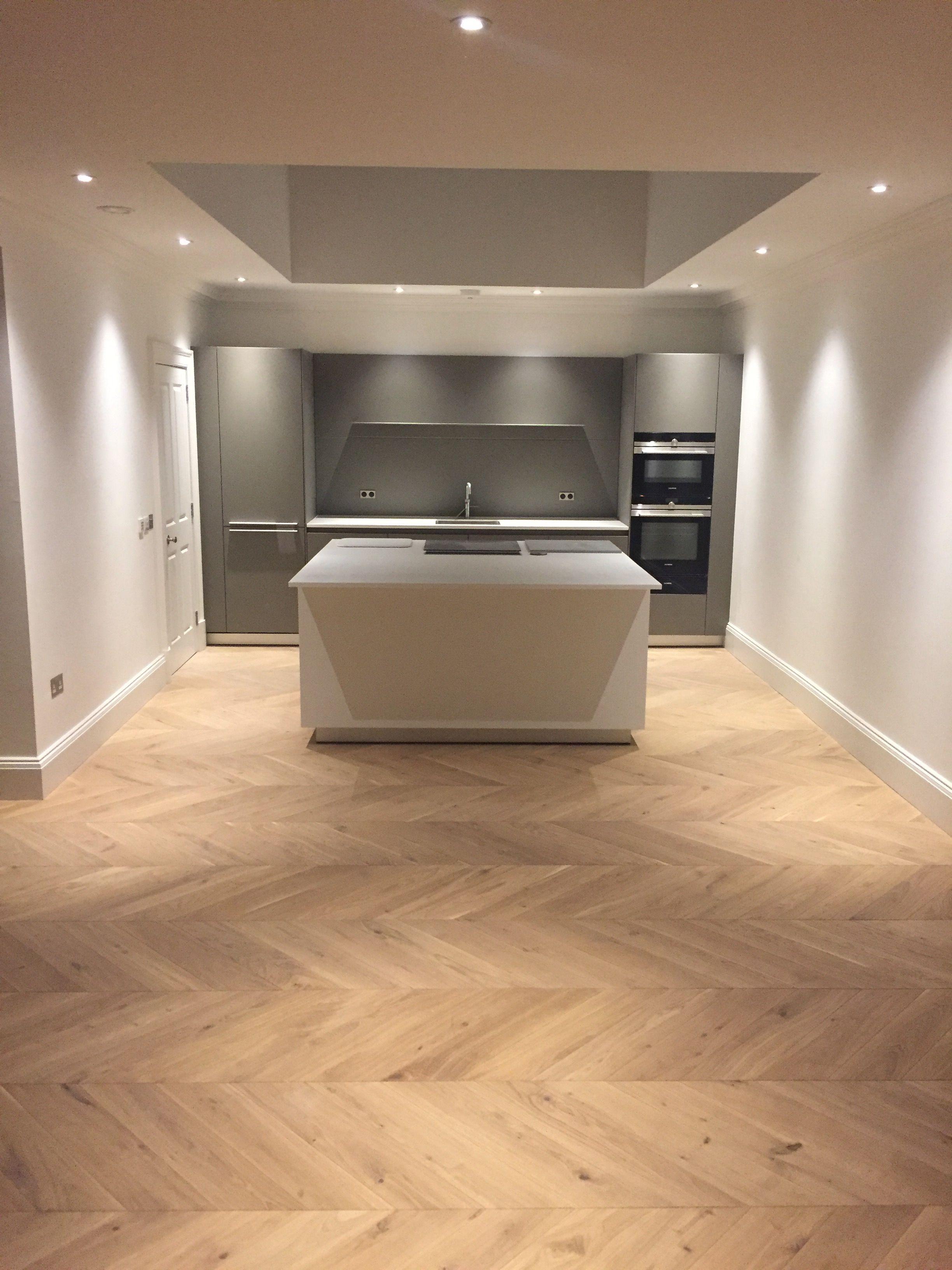 Oak Natural  Chevron Parquet Engineered Wood Floor  Luxury