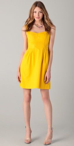 Bright Colors Yellow Dress Nanette Lepore