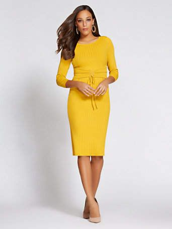 9187c7f2a9 New York   Co. Gabrielle Union Collection - Corset Sweater Dress