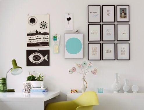 neue wandgestaltung moodboard im home office tags eisblau. Black Bedroom Furniture Sets. Home Design Ideas