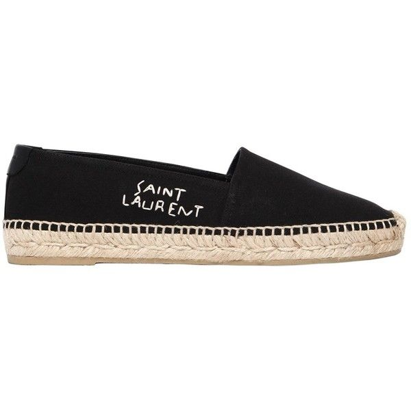 Saint Laurent 20MM LOGO COTTON CANVAS ESPADRILLES dgNc7u75