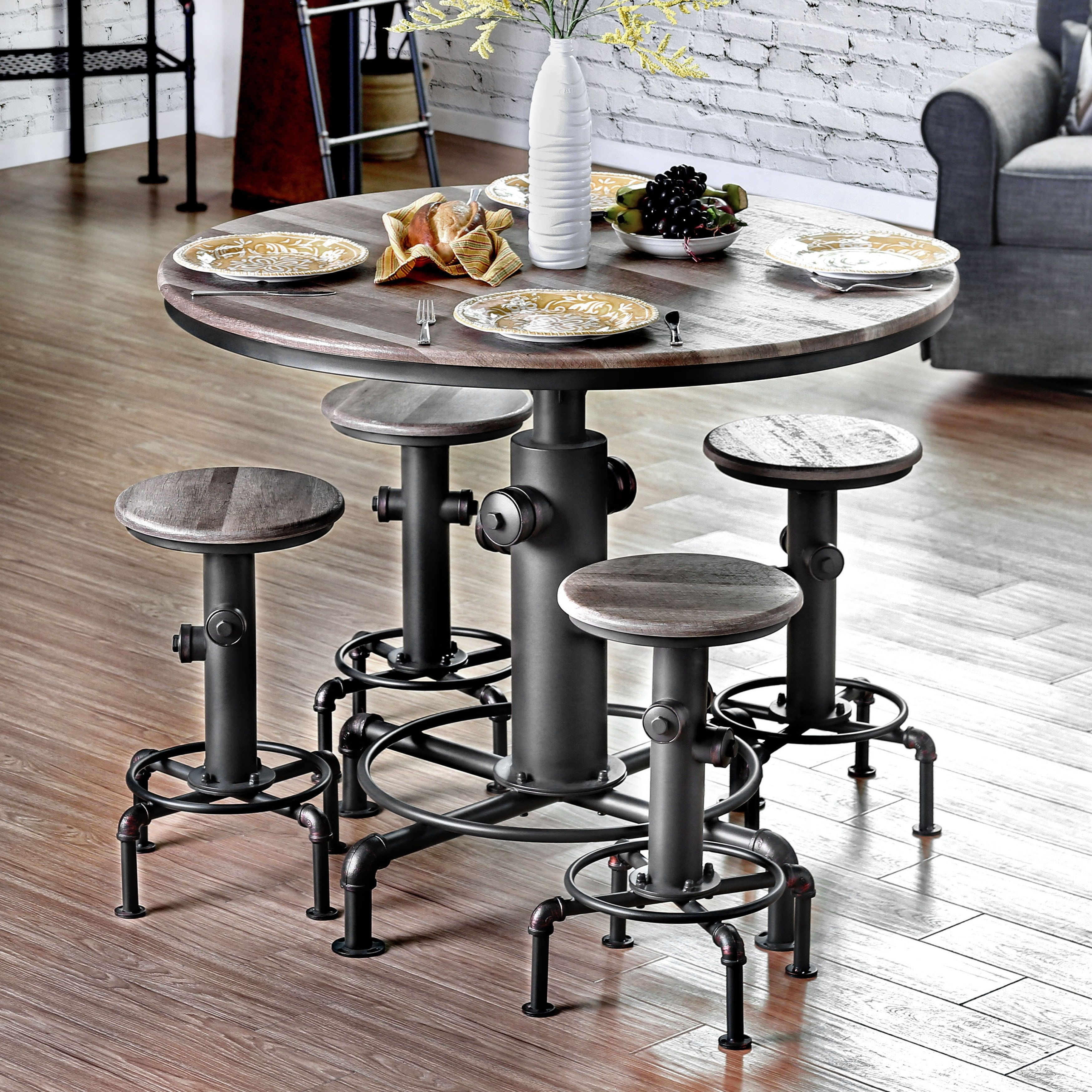 Overstock Dining Room Tables: Furniture Of America Protector Hydrant Inspired Metal