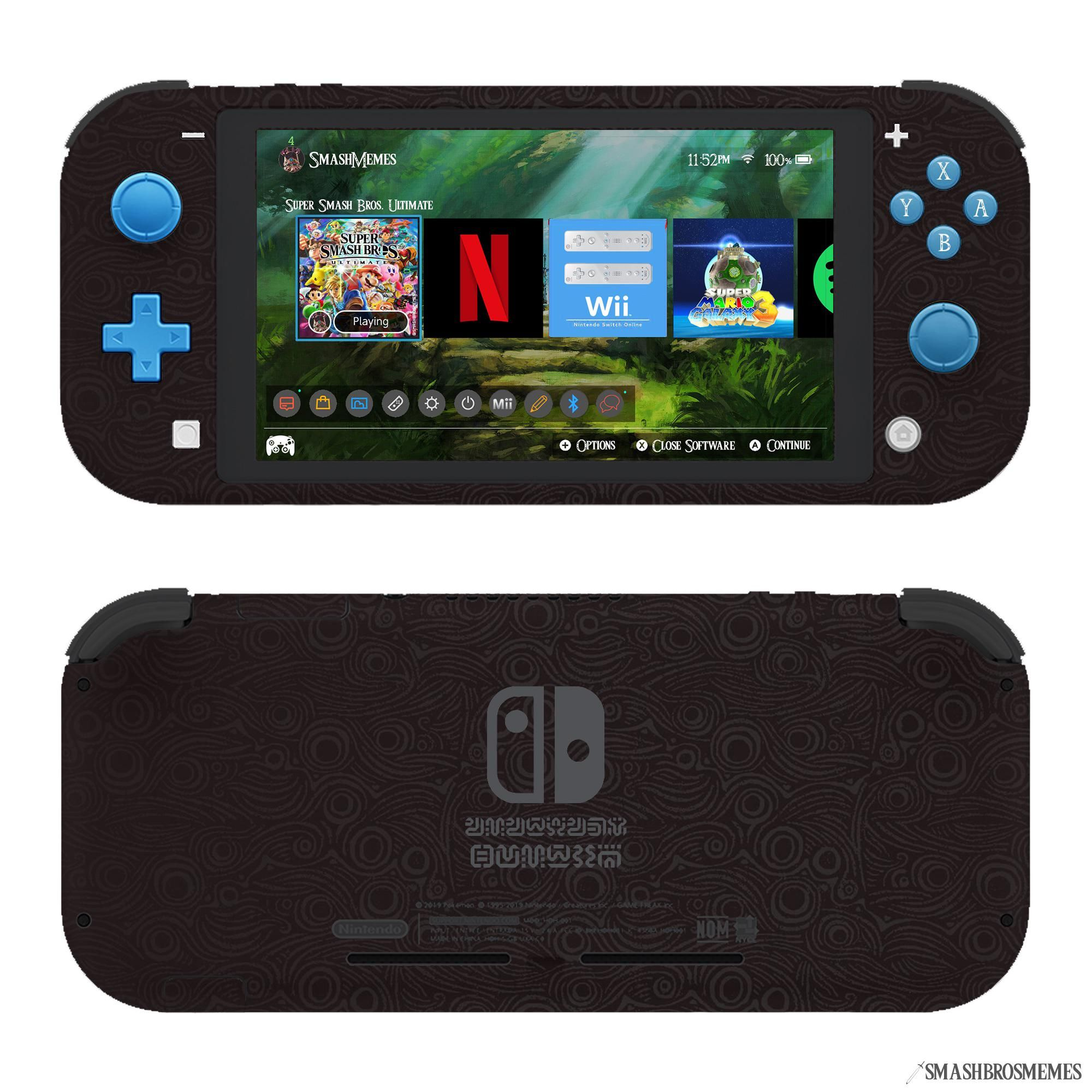 Nintendo Switch Lite Botw Edition Concept Along With A Home Screen Design That I Made Nintendo Switch Accessories Nintendo Switch Games Nintendo