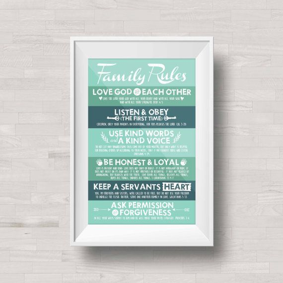 Family Rules Poster Print