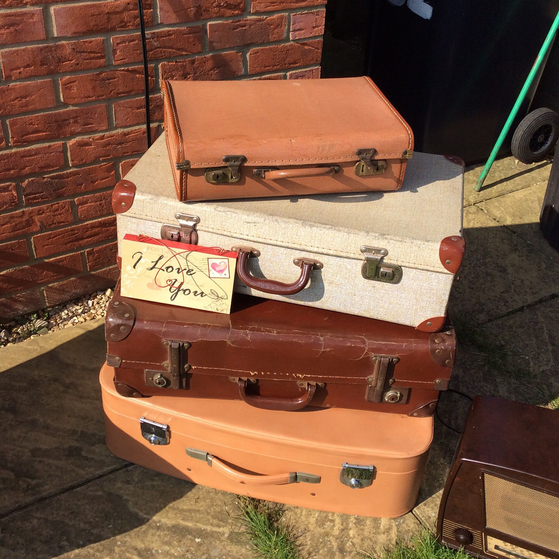 Vintage Suitcase Luggage Hire Per Case Or Stack For Fee Wedding Party Event Cambridgeshire