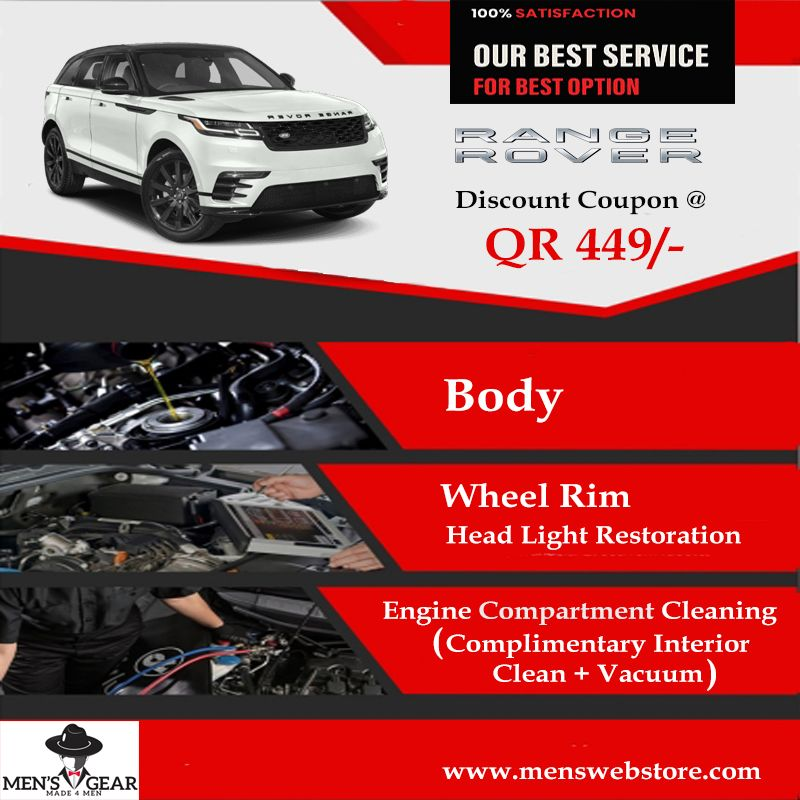 Car Detailing Service For Range Rover In Qatar Includes Body