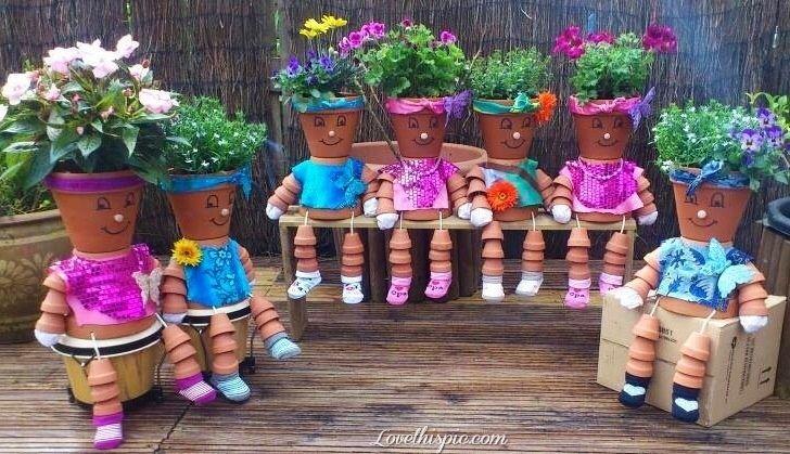 Pot People Garden Gardening Idea Gardening Ideas Gardening Decor