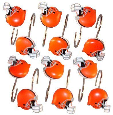 Cleveland Browns Shower Curtain Hooks Nfl Football Brown Shower Curtain Shower Curtain Hooks Shower Curtain