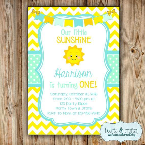 You Are My Sunshine Birthday Invitation Sunshine Birthday Etsy Sunshine Birthday Parties Sunshine Birthday Sunshine Baby Shower Invitations