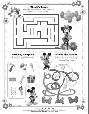 Activities For Kids Minnie Mouse Party Mickey Mouse Birthday