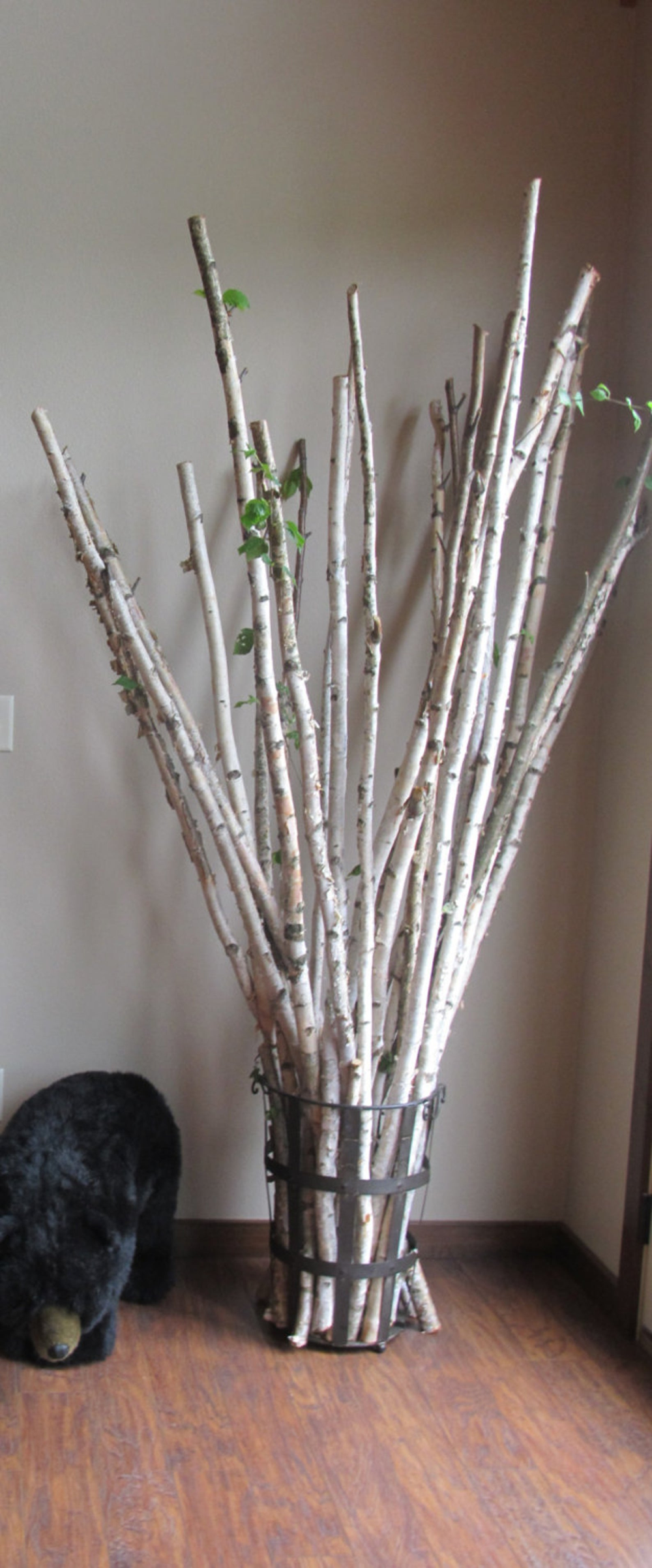 1 1 1 2 Set Of 3 Real White Birch Poles Wood Birch Branches