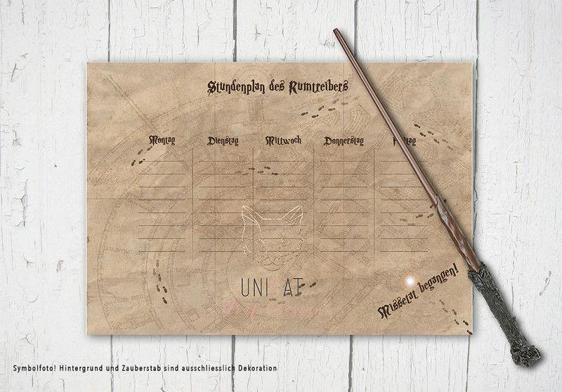 Stundenplan Rumtreiber A4 Digital Download Etsy Die Karte Des Rumtreibers Stundenplan Ausdrucken