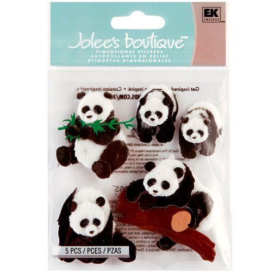 Jolee/'s Boutique Pandas Dimensional Stickers