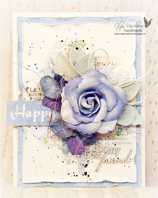 "Blog studio75.pl: ""Happy"" card by Olga / Kartka ""Happy"" od Olgi"