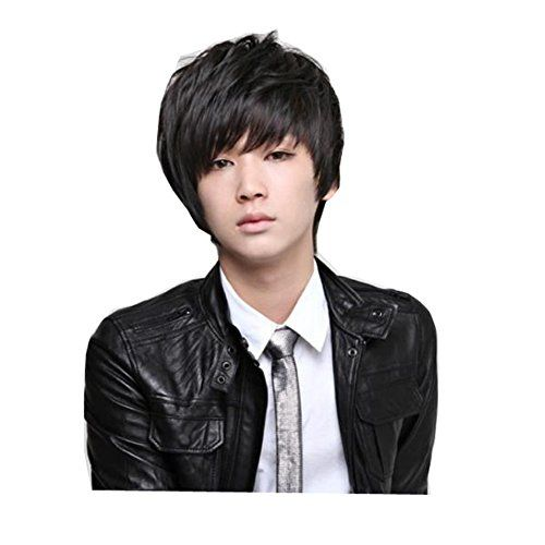 Diy Wig Men S Male Fluffy Style Hair Anime Handsome Boy S Wig Hairstyles Short Black Hairstyles Men S Wigs