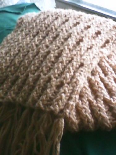 Honey Comb Stitch Scarf Pattern By Knifty Knitter Looms Knitting