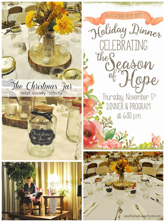 Good Relief Society Christmas Party Ideas Part - 9: The Christmas Jar Relief Society Activity Idea - Celebrating The Season Of  Hope With The Story, Christmas Jars And A Lovely Dinner.