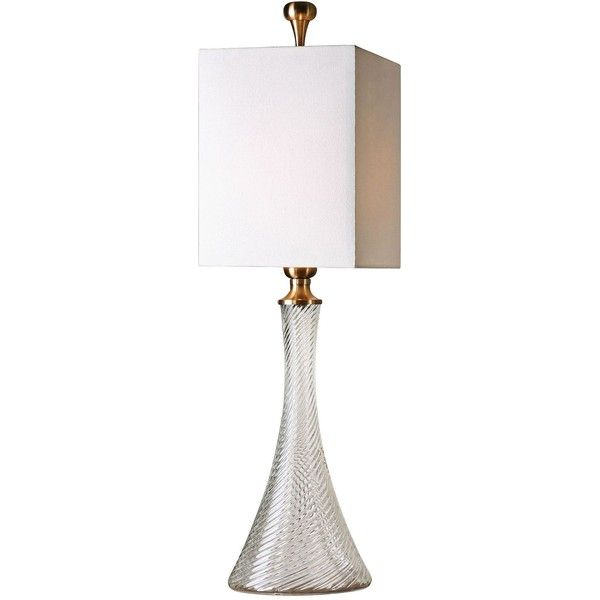 Uttermost Ballina Fluted Glass Table Lamp (79 KWD) ❤ Liked On Polyvore  Featuring Home