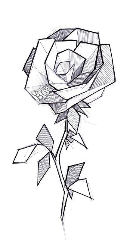 Geometric Flowers Tattoo 2 By The Bumph Boys Geometric Drawing Geometric Art Geometric Flower Tattoo