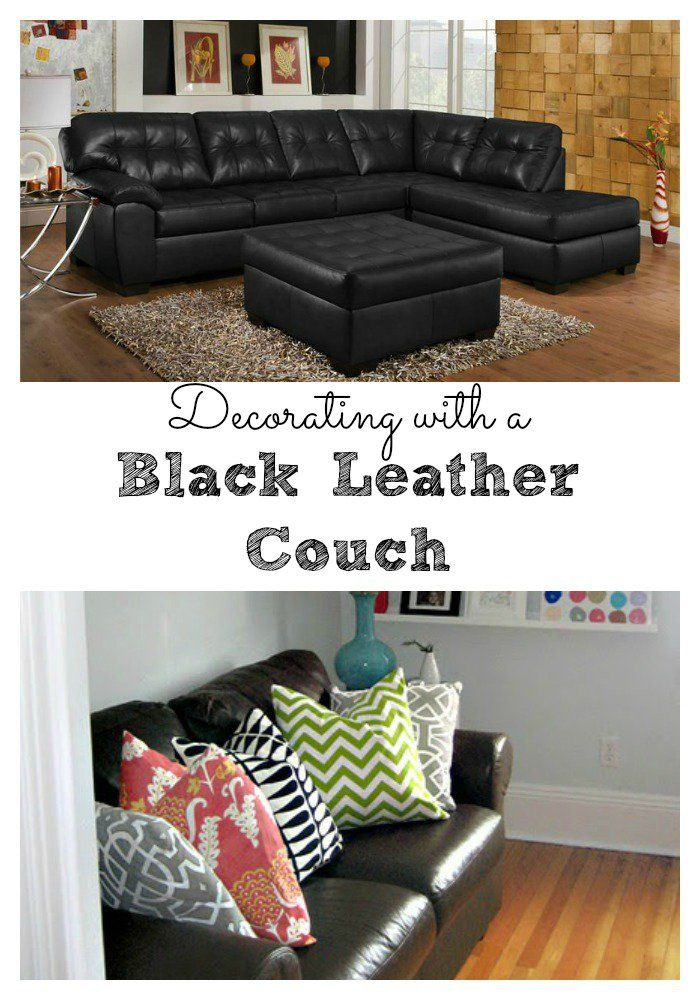 Living Room Decorating Ideas With Black Leather Sofa