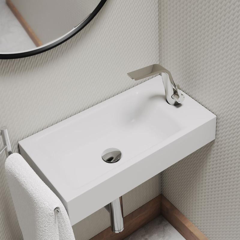 Kaldewei Set Puro Das Handwaschbecken Kommt Mit Passender Waschtischarmatur Das Waschbecken Zeichnet Sich Durch Das Eckige Kaldewei Handwaschbecken Haus Deko