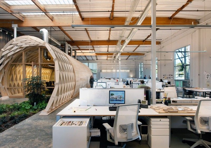 Beautiful Contemporary Office Space In California Blends Creativity With Indoor Green!