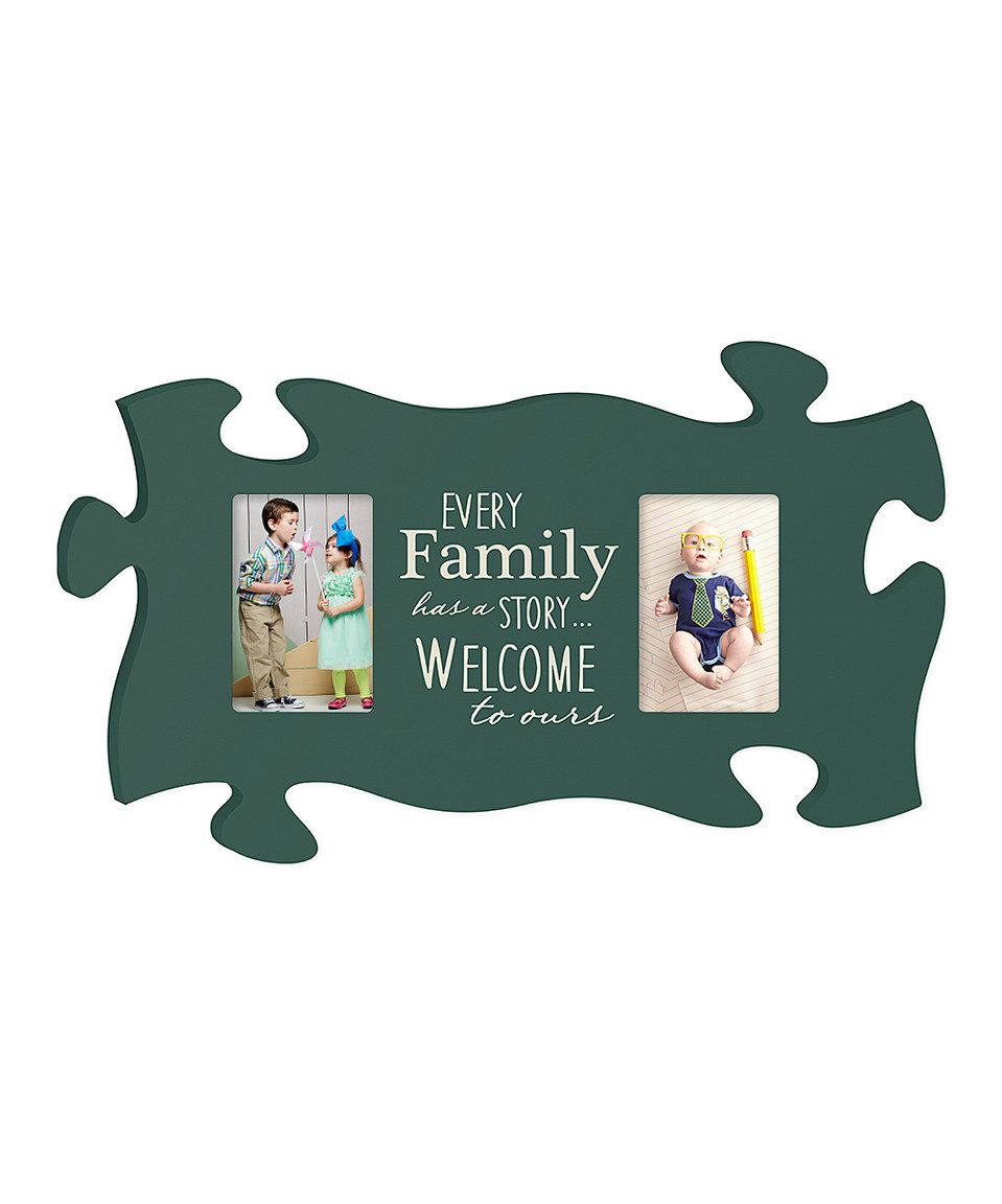 Take a look at this \'Every Family Has a Story\' Puzzle Piece Frame ...