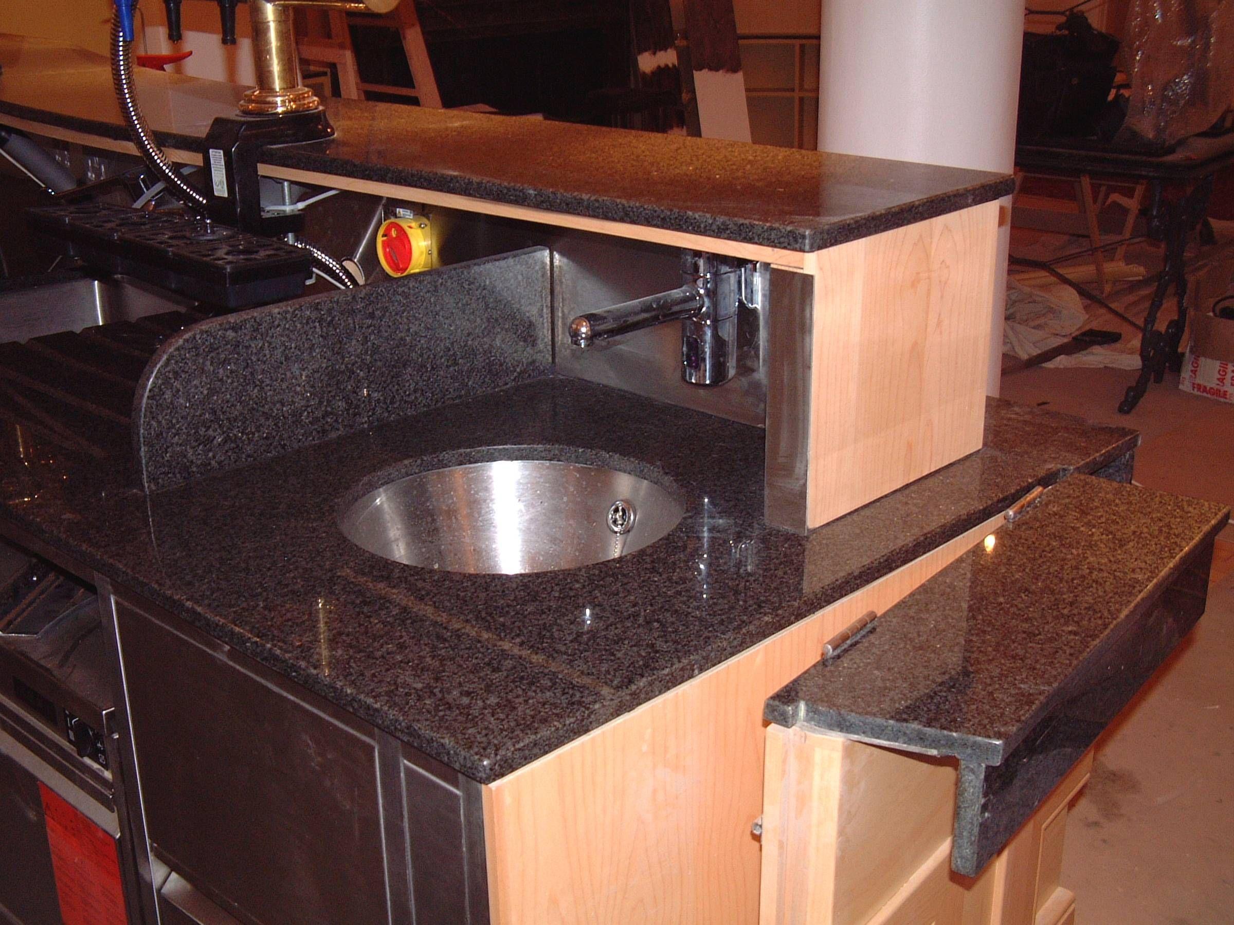 Granite worktop bar