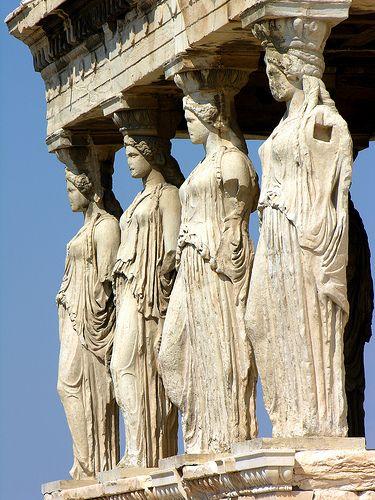 Greece 0121 The Caryatids Greek Art Ancient Greek Art Art History
