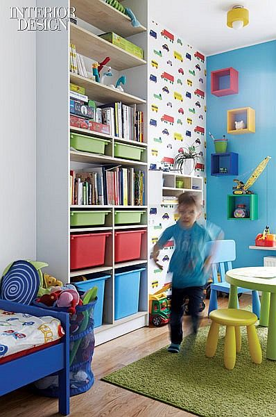 Meeting In The Middle A Warsaw Apartment Equal Parts Colorful And Minimal Small Kids Bedroom Storage Kids Room Colorful Kids Room