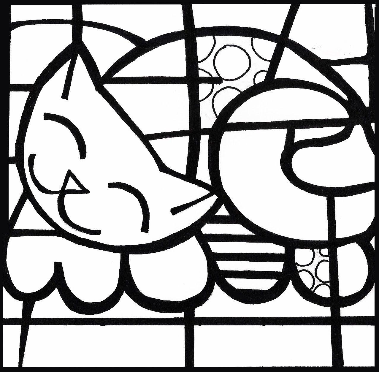Desenhos De Romero Brito Para Colorir Desenhos Para Colorir E Imprimir Obras De Romero Britto Romero Britto Projetos De Arte Infantil