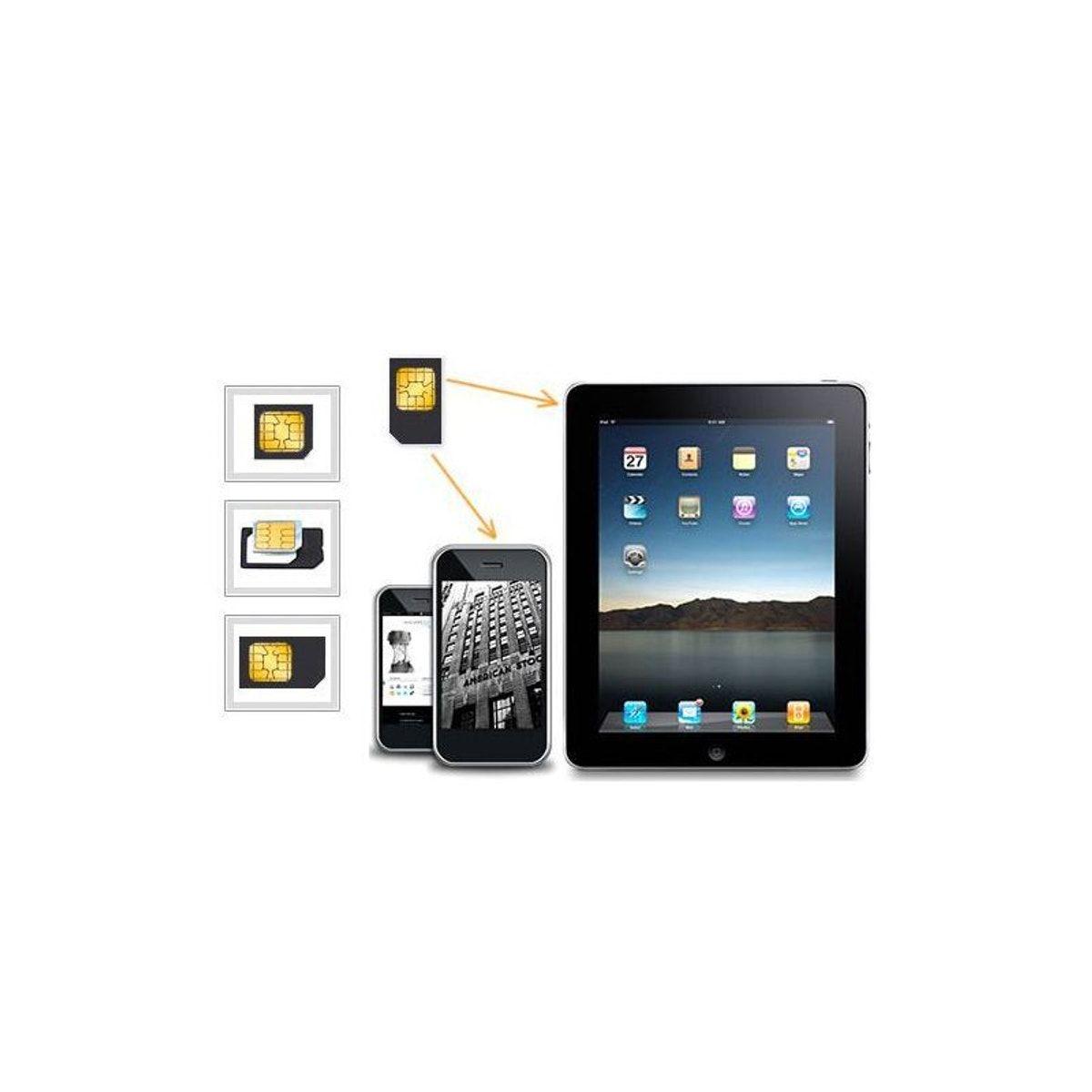 Adaptateur Micro Carte Sim Vers Sim 2 5x1 4 Ipad Et Iphone