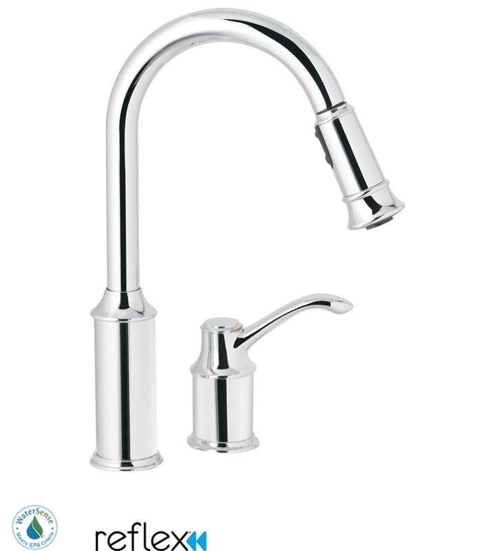 Moen 7590 Chrome Kitchen Faucet Moen Kitchen Faucet Pull Out